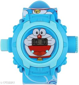 Doraemon Kids watch with 24 Crids Laser Projection