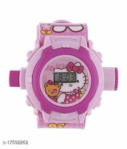 Barbie Kids watch with 24 Crids Laser Projection