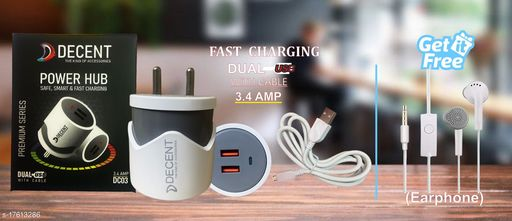 Fast Charger with data cable with combo of J8 Earphone. Oppo charger realme charger samsung charger vivo charger