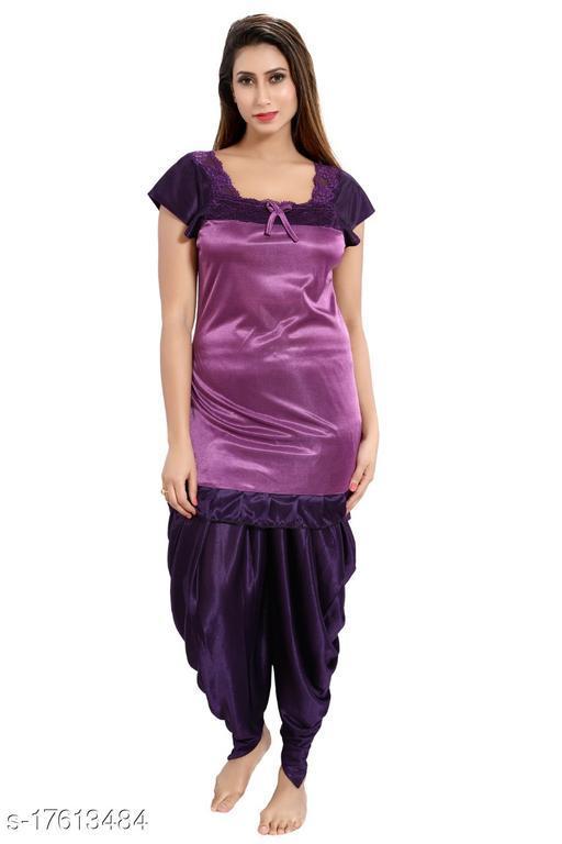 Women's comfortable satin night suits