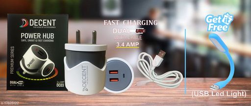 Fast Charger with data cable with combo of USB Led Light. Oppo charger realme charger samsung charger vivo charger