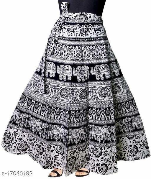 Jaipuri Traditional Ethnic Wrap Around Women's Skirt