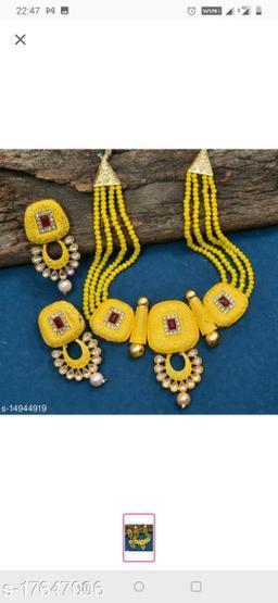 Plaisante Enamal Beads Neck Lace 4