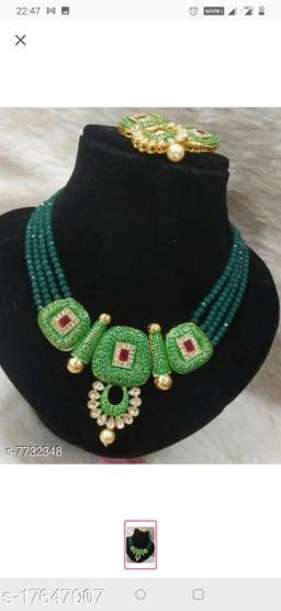 Plaisante Enamal Beads Neck Lace2