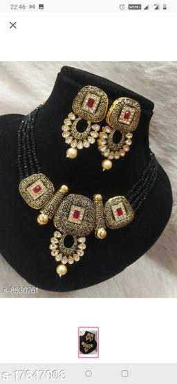Plaisante Enamal Beads Neck Lace 5