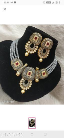 Plaisante Enamal Beads Neck Lace 3