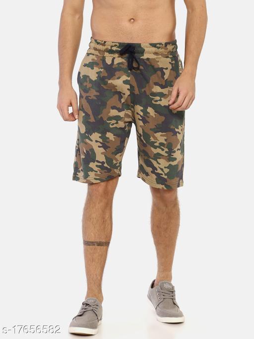 Masculino Latino Khaki camo Mens Shorts