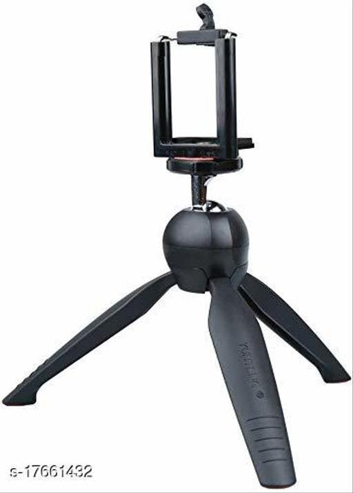 YT-228 Mini Tripod+ Universal Mobile Clip Holder Lightweight Portable for Vlog,Video Shooting,Photography etc Fits for All Mobile Phones,Action & DSLR Camera's - Tripod (Black)