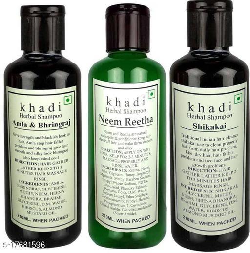 Khadi Herbal combo - Amla bhringraj , Neem Reetha & Shikakai shampoo  (630 ml)