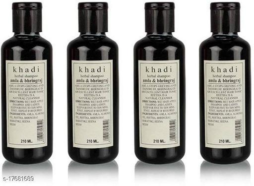 Khadi Herbal AMLA & BHRINGRAJ SHAMPOO 210X4(840 ml)
