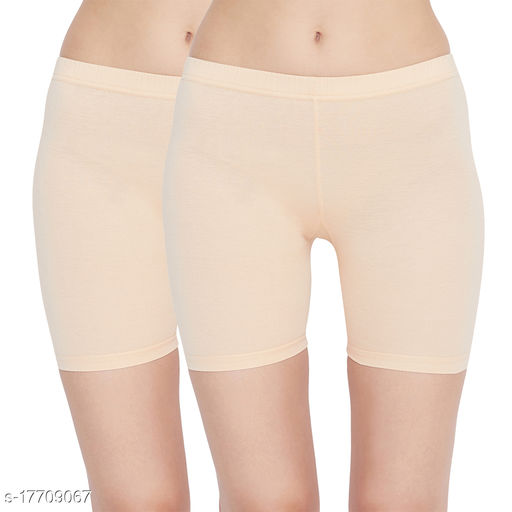 Women Boy Shorts Beige Cotton Panty (Pack of 2)