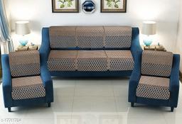 Agee Home Decor 5 Seater Sofa Cover Set Chenille Velvet Reversible Sofa Cover for Living Room. (L-69, W-23, H-28) (Set of 10 Pcs, Dark Brown)…
