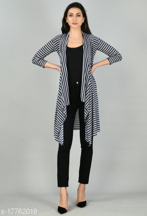 Women stripe shrug