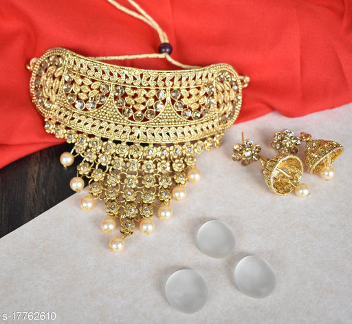 Golden Neck Touch Jewelry Necklace for Women