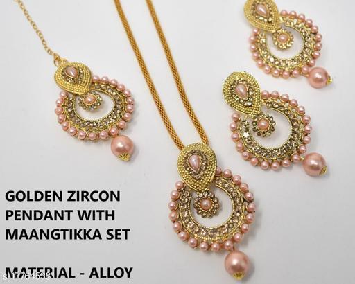 Beautfiul Golden Beads Necklace Set for Women