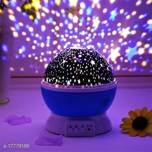 Round Star Master Projector LED Night lamp and Rotating 4 Mode Sky Star Master Mini Projector Lamp for Kid's Room Decor