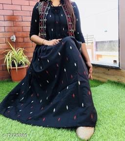 Women Nylon Anarkali Gown