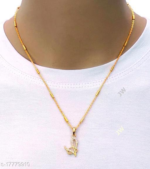 v letter pendants and lockets chain alphabet name for girls & women