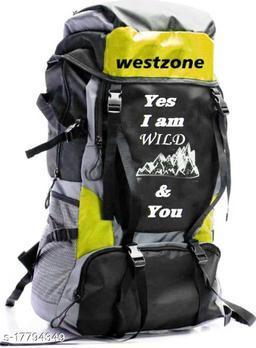 Trendy Men's Yellow Polyester Rucksacks