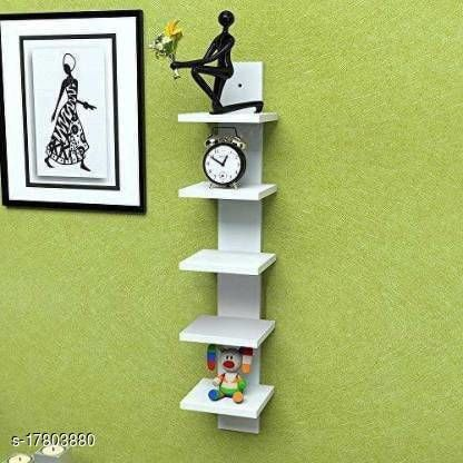 Home DcoreWall Mount 5 Tier Spine Floating Decorative Wall Shelf