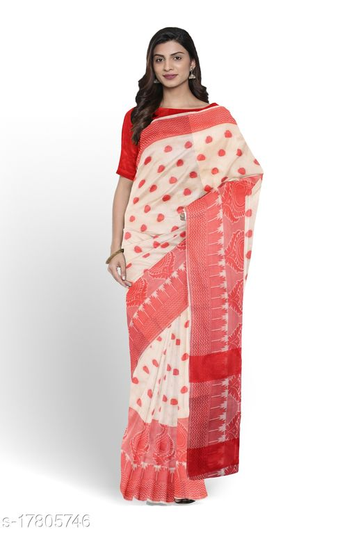 Cotton Weaving Soft Silk Saree With Rich Heavy Border With All Over Butti Weaves