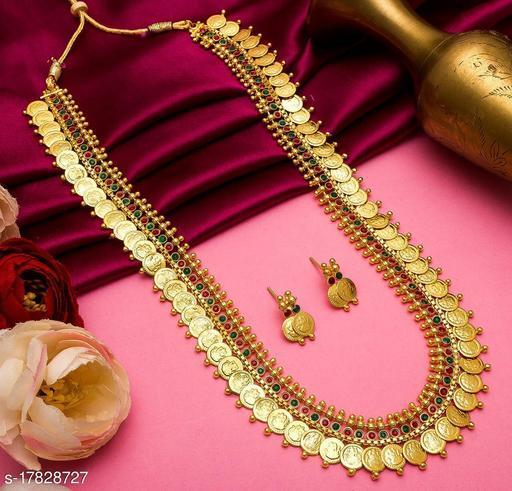 Lakshmi Coin Heavy Fancy Jewellery Set For Women