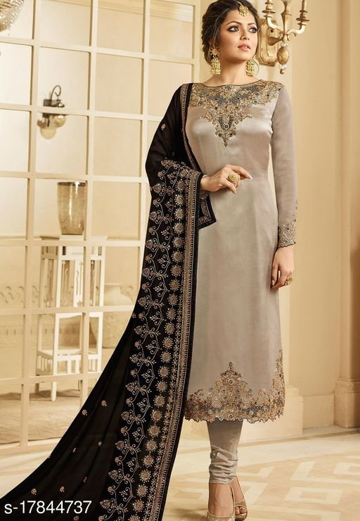 Heavy Georgette Solid Salwar Suit Material  (Semi Stitched)