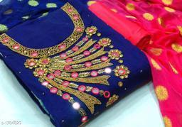 Pretty Chanderi Silk Suit & Dress Material