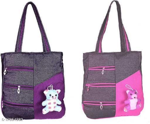 Trendy Women's Combo Beige Canvas Messenger Bags