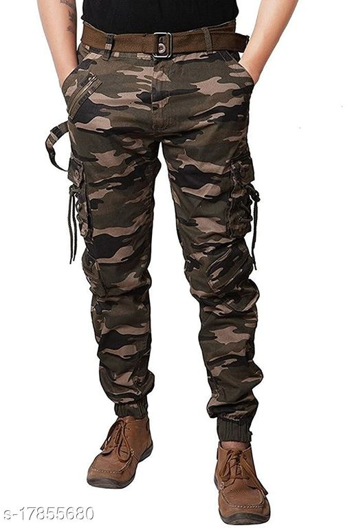 Redvin Men's Cargo Pant Regular Fit Military Pattern