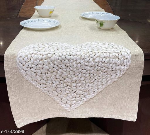 Inertia Home Décor Cotton Runner with Embroidered (16x72 Inch or 41x183 cm,) Pack of 1 + 2 Kitchen Towels
