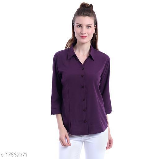 Giggles Creations Regular and Formal Shirt Purple
