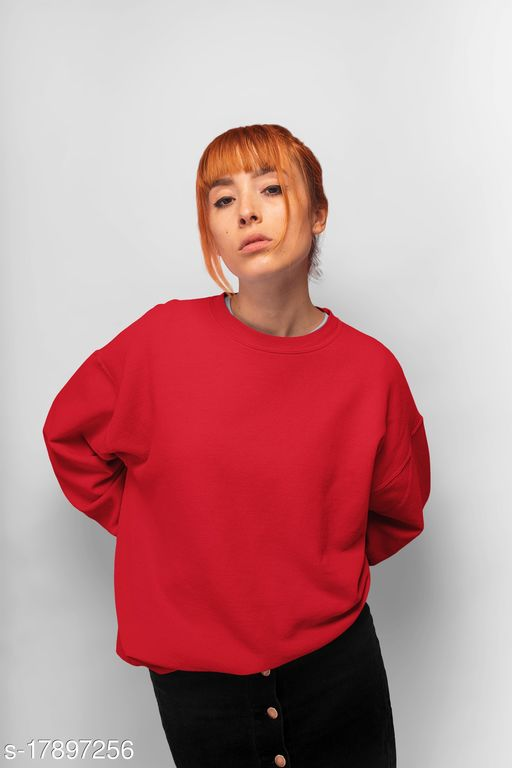 Women's Winter Fleece Crew Neck Sweatshirt