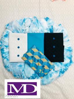 Pure Cotton 3Top Solid Unstitch Dress
