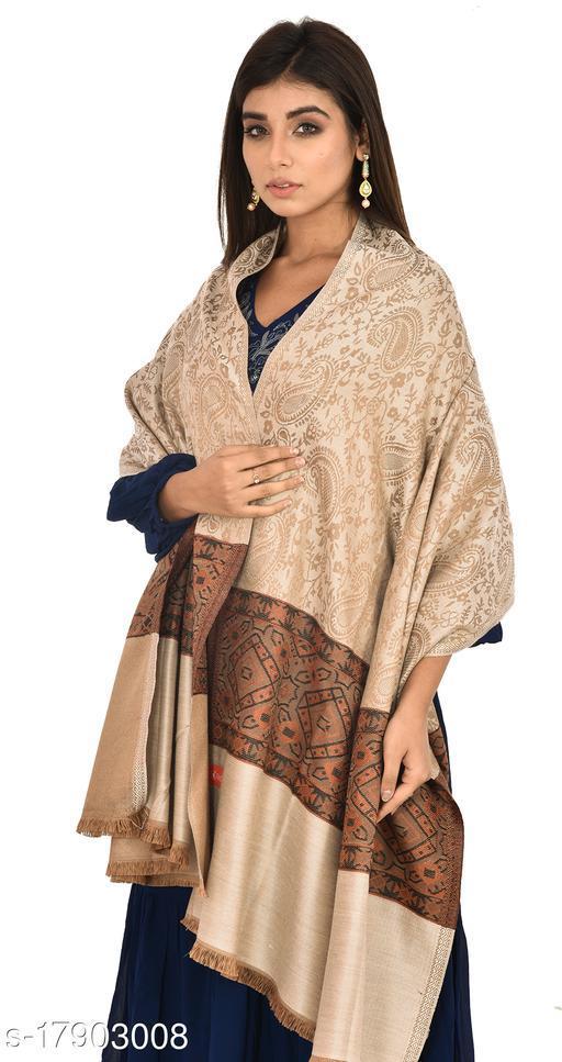 """Womens' Self Design Palla Design Shawl (Size 40""""X80"""")"""
