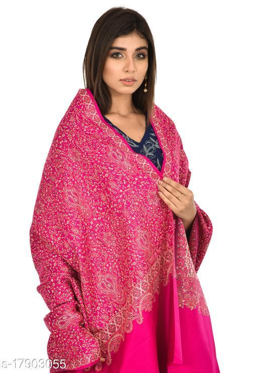 Women's Full Printed Kalamkari Design Shawl (Rani-Pink)