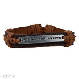 Rabia Taj Pearl Designer Leather Bracelets