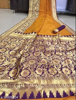 Kheni Tex Fancy Banarasi Silk Saree With Blouse Piece
