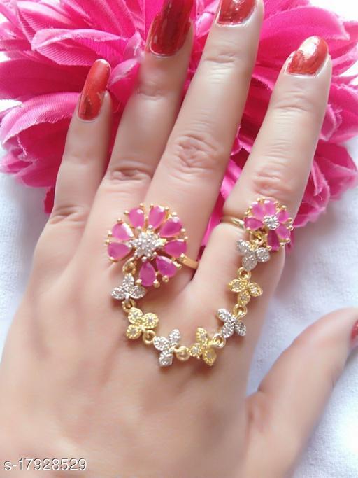 Traending Pink Flower Ring