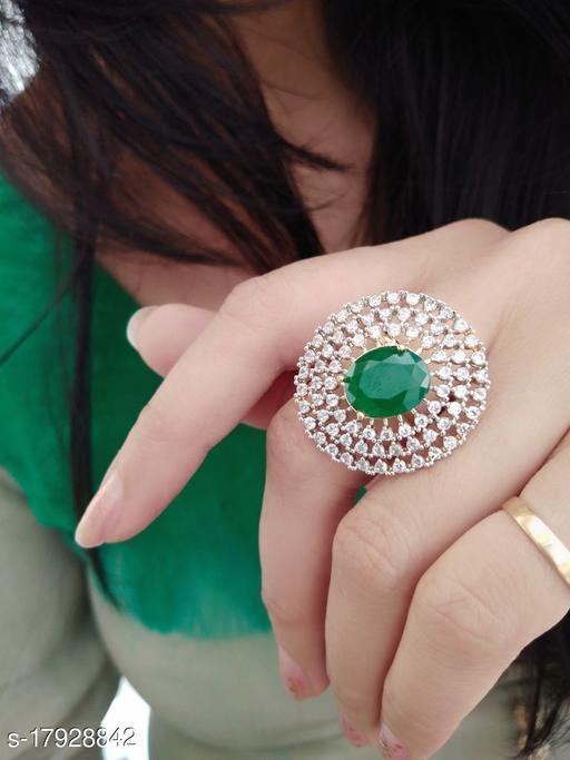 Treanding Green Stone ring