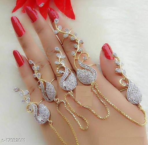 Treanding Full Hand Ring Chain Silver