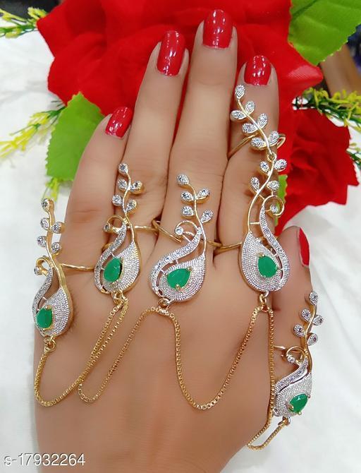 Treanding Full Hand Ring Chain Green