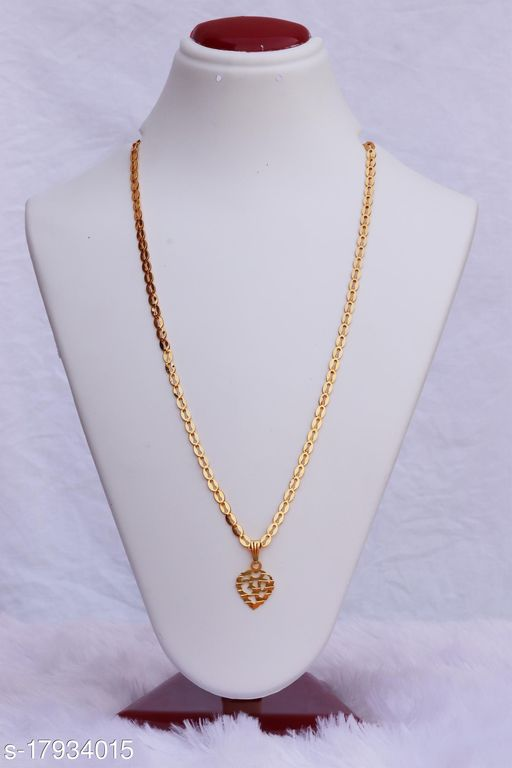 Vesture Knot Gold Single Strained Chain Necklace For Girls/Women