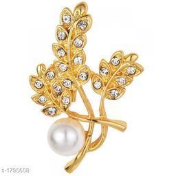 Silver Tone Rhinestone Crystal Wedding Brooch Pin