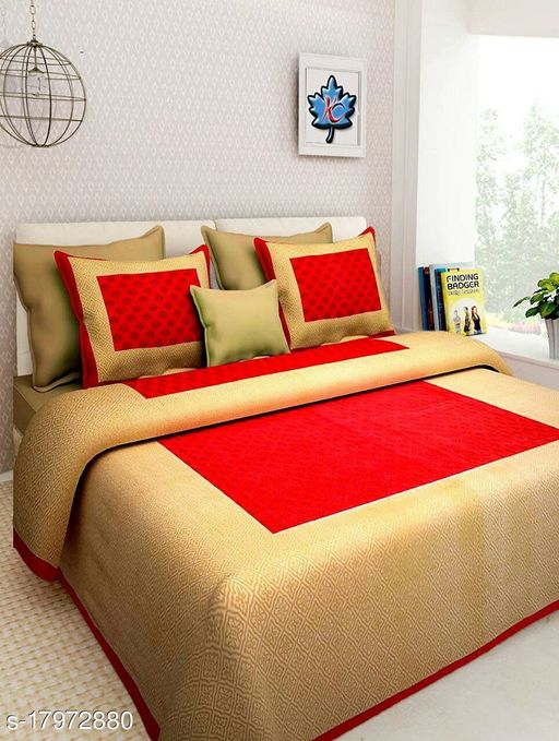 cotton double bedsheet- queen size ( 90x100 inches)