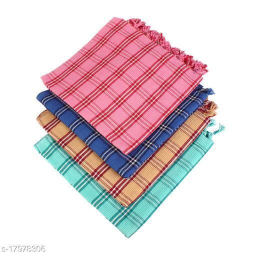 FANCY CHECK BATH TOWEL(PACK OF 3)