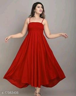 Zamaisha Maroon Rayon A-Line Bobbin Maxi Dress for Women