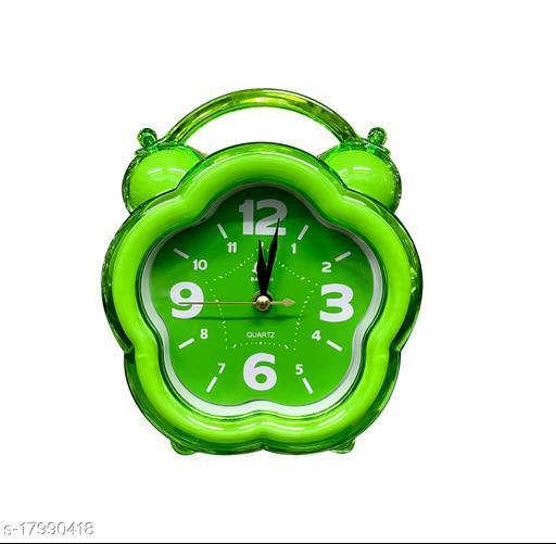 Lemon Tree Analog Table Alarm Clock  Small Size Green Color