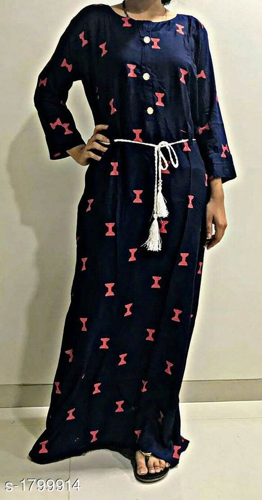 Kurtis & Kurtas Classy Women's Long Kurti  *Fabric* Rayon  *Sleeves* Sleeves Are Included  *Size* M - 40 in  *Length* Up To 44 in  *Type* Stitched  *Description* It Has 1 Piece Of Long Kurti  *Work * Printed  *Sizes Available* M   Supplier Rating: ★4.3 (6) SKU: prlkblue Free shipping is available for this item. Pkt. Weight Range: 300  Catalog Name: Inaaya Classy Women's Long Kurtis Vol 1 - Graphics_Edge Code: 035-1799914--