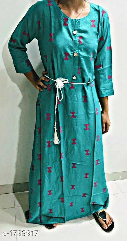 Kurtis & Kurtas Classy Women's Long Kurti  *Fabric* Rayon  *Sleeves* Sleeves Are Included  *Size* M - 40 in  *Length* Up To 44 in  *Type* Stitched  *Description* It Has 1 Piece Of Long Kurti  *Work * Printed  *Sizes Available* M   Supplier Rating: ★4.3 (6) SKU: prlksea Free shipping is available for this item. Pkt. Weight Range: 300  Catalog Name: Inaaya Classy Women's Long Kurtis Vol 1 - Graphics_Edge Code: 035-1799917--